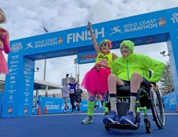 'Anything is possible': Quadriplegic takes on the Gold Coast Marathon Fun Run