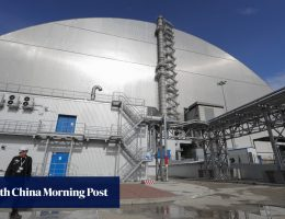 Chernobyl's new US$1.7 billion radioactive dust shelter unveiled in Ukraine