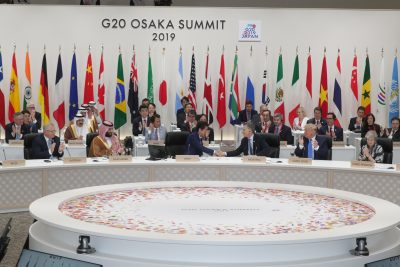 G20 leaders and delegates attend the closing session of G20 leaders summit in Osaka, Japan, 29 June 2019 (Photo: Handout via Reuters/G20 Osaka Summit Photo).