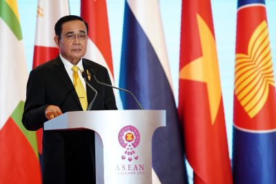 Thai Prime Minister Prayuth Chan-o-cha, chairman of 34th ASEAN Summit, speaks in Bangkok, Thailand, 23 June 2019 (Photo: Reuters/Athit Perawongmetha).