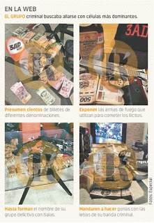 Gang from Alvaro Obregón CDMX shows off money,bullets…