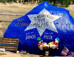 Memorial rocks dedicated to slain Sacramento cop vandalized: reports