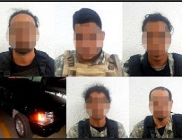 PESP apprehends armed group with armor plated Jeep