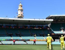 Australia and New Zealand play at empty SCG