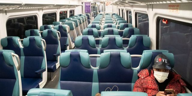 """The Metropolitan Transportation Authority says it is facing a """"financial calamity"""" as ridership on subways and commuter rail lines has nose-dived as people stay home to avoid coronavirus."""