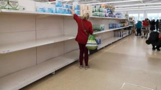 Coronavirus: Supermarkets ask shoppers to be 'considerate' and stop stockpiling