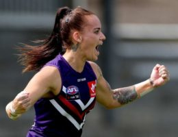 Dockers confirm AFLW premiership favouritism with massive win over Suns