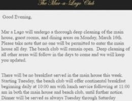 Mar-a-Lago informs guests of 'deep cleaning' after some at resort test positive for coronavirus