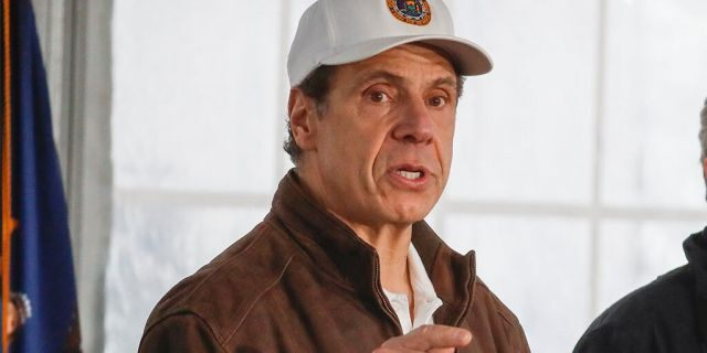New York Governor Andrew Cuomo speaks during a news conference at a COVID-19 coronavirus infection testing facility at Glen Island Park, Friday, March 13, 2020, in New Rochelle, N.Y. (AP Photo/John Minchillo)