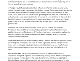 Yemen: ACLED Regional Overview – Middle East (8-14 March 2020)