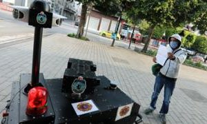 Coronavirus: Tunisia deploys police robot on lockdown patrol