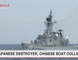 Japan Says Destroyer And Chinese Fishing Boat Collide In East China Sea