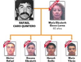 Mexican government freezes 18 bank accounts linked to the Sinaloa Cartel and Rafael Caro Quintero