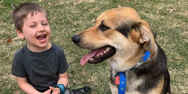 William and his adoptive dog, the aptly named Nelson