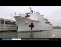 U.S. Navy Hospital Ship USNS Comfort Deployed To NYC With 1,000 Bed Capacity Is Only Treating A Handful Of Patients
