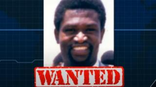 """Augustin Bizimana with the word """"wanted"""" under this name"""