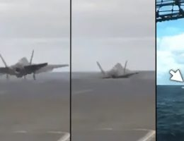 F-35C Sinks To Just Above The Waves After Taking A Low-Power Catapult Shot (Video)