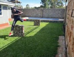 How a steeplechase champion is training at home