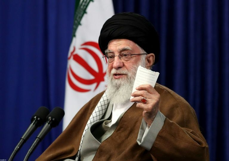 Iran's supreme leader Ayatollah Ali Khamenei hit out at the US on Sunday, saying it 'will not be staying in either Iraq or Syria'