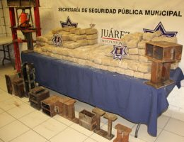 More Cd Juarez: 2 Arrested with 245 Pounds of Mota and Mechanical Presses