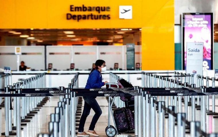 US President Donald Trump anticipated on Tuesday he was considering imposing a ban on travel from Brazil.