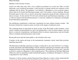 oPt: Nickolay Mladenov UN Special Coordinator for the Middle East Peace Process - Briefing to the Security Council on the Situation in the Middle East, 20 May 2020