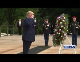 President Trump And Former Vice-Presdient Biden On Memorial Day