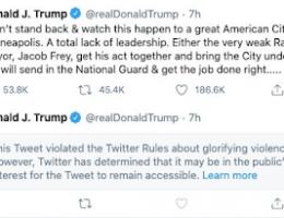 Twitter Targets President Trump's Tweets Again