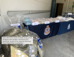 "Vancouver, BC: ""Project Transit"" Nets Lots More Hard Drugs and Guns"