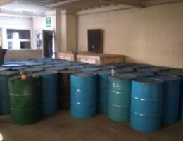 Warehouse with thousands of precursor chemicals owned by the Sinaloa Cartel was seized in Ensenada
