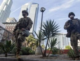 Armed man allegedly dressed as National Guard soldier in Los Angeles