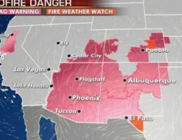 Critical fire weather out West, extreme heat in Plains as Saharan dust lingers