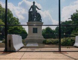 DC protesters condemn Emancipation Memorial in Lincoln Park