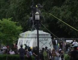 DC protesters try tearing down Andrew Jackson statue at Lafayette Park, set up 'BHAZ' near White House