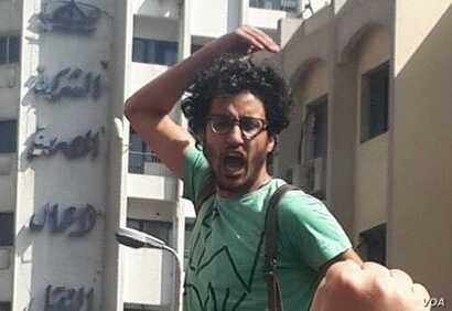 Nour Khalil protests during the Arab Spring, in 2011. (Photo Courtesy of Nour Khalil)