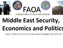Middle East Security, Economics and Politics