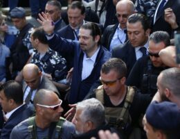 Missile hit near convoy of ex-Lebanon PM Hariri, report says