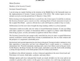 oPt: Nickolay Mladenov UN Special Coordinator for the Middle East Peace Process - Briefing to the Security Council on the Situation in the Middle East, Reporting on UNSCR 2334 (2016) 24 June 2020