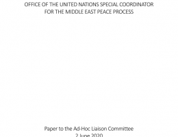 oPt: Paper to the Ad-Hoc Liaison Committee 2 June 2020 - Office of the United Nations Special Coordinator for the Middle East Peace Process