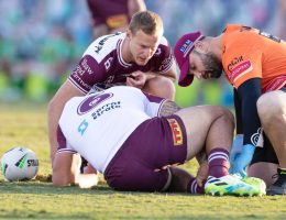 Sea Eagles hold on to beat Raiders, Sharks defeat Dogs in a thriller