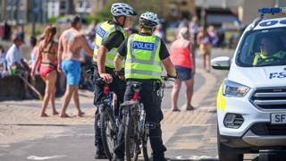 Police at Troon