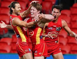 Suns shock the AFL with massive win over Eagles, Port demolishes Crows in front of lucky fans