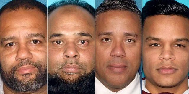 Fron left to right, Paterson Councilman Michael Jackson, Shelim Khalique, Councilman-elect Alex Mendez and Abu Kazyen were all slapped with voter fraud-related charges by the New Jersey Attorney General last week. (New Jersey Office of the Attorney General)