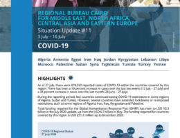 Algeria: WFP Regional Bureau for the Middle East, North Africa (MENA), Central Asia & Eastern Europe COVID-19 Situation Report #11, 3 July – 16 July