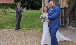 Coronavirus: Couple's joy at post lockdown wedding