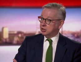 Coronavirus: I trust people's sense on face masks - Gove