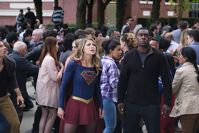 David, who is also known for his role as J'onn J'onzz in Supergirl (pictured), said he felt it was 'difficult' to get people to realise racism is still a problem in the UK