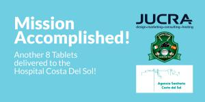 Mission Accomplished. 8 Digital tablets delivered to the Hospital Costa del Sol.