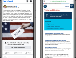 On Facebook, Trump's next false voting claim will come with an info label