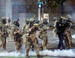 Pentagon Concerned Over U.S. Federal Law Enforcement Officers Dressed Like Military Troops